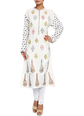 Rahul Singh Off White Cotton Kurti