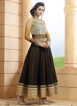Rakul Preet Black Georgette Anarkali Suit