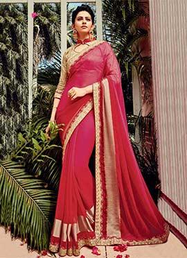 Rakul Preet Singh Pink Georgette Saree