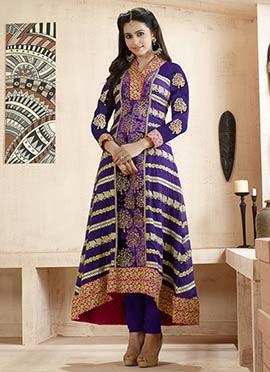 Rakul Preet Singh Violet Anarkali Suit