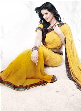 Ravishing Ruffled Saree