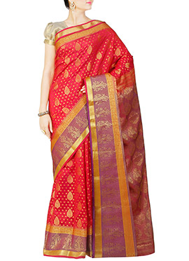 Red Art Kanjivaram Silk Saree