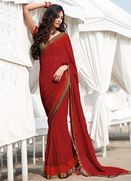 Red Colored Saree