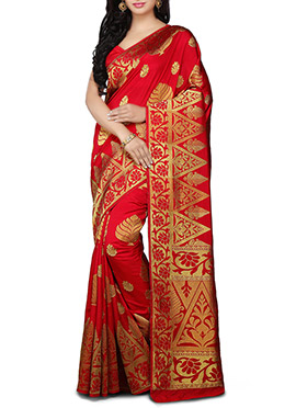Red kancheepuram Art Silk Saree