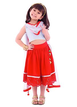 Red Kidology Lehenga Choli