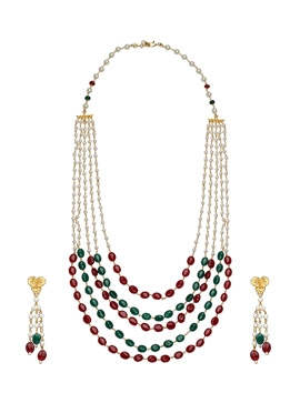 Red N Green Beads Necklace