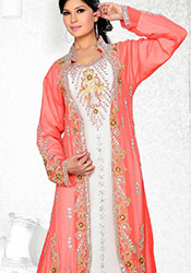 Red N Off White Plus Size Fustan Dress