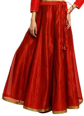 Red Polynet Skirt
