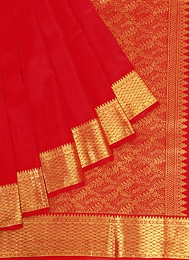 Red Pothys Pure Silk Saree