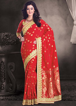 Red Uppada Silk Saree