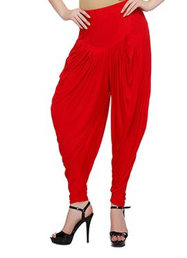 Red Viscose Harem Pants