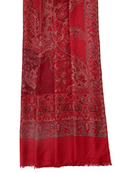 Red Woven Woolen Stole