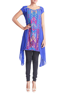Regal Armoire Blue Printed Kurti
