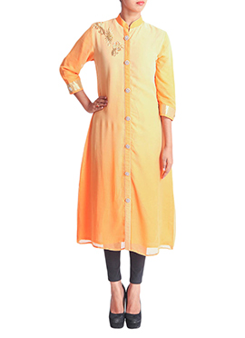 Regal Armoire Orange Long Kurti