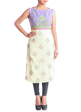 Regal Armoire Purple N Beige Kurti