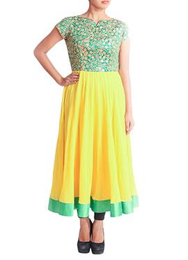 Regal Armoire Yellow N Green Kurti