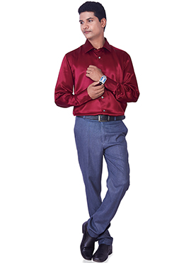 Regal Red Pure Silk Classic Shirt