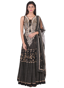Ritu Kumar Black Anarkali Suit