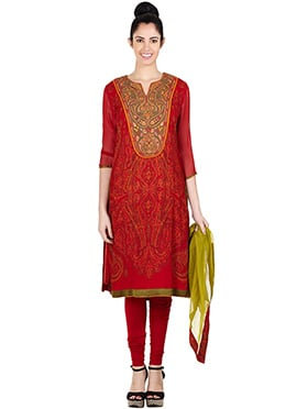 Ritu Kumar Red Churidar Suit