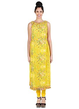 Ritu Kumar Yellow Churidar Suit