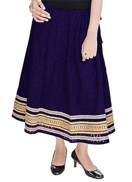 Royal Blue Cotton Skirt