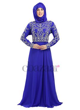 Royal Blue Georgette Kaftan
