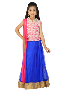 Royal Blue K And U Lehenga Choli