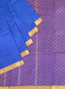Royal Blue Pure Silk Pothys Saree