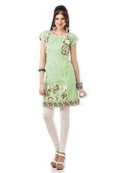 Sage Green Cotton Kurti