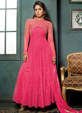 Sangeeta Ghosh Pink Anarkali Suit