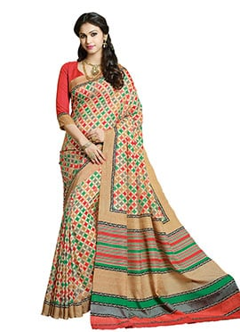 Shamata Anchan Geometric Design Saree