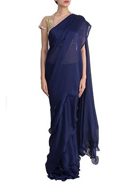 Shanaya Navy Blue Draped Saree