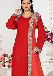 Shiny Red Farasha Kaftan