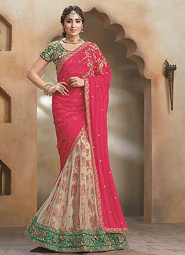 Shriya Embroidered Lehenga Saree