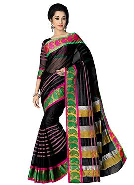 Silk Cotton Black Saree