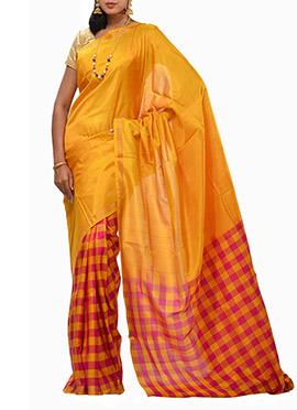 Silk Uppada Half N Half Saree