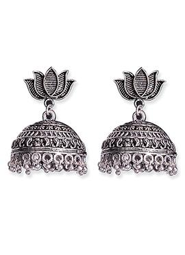 Silver Foliage Designed Jhumkas
