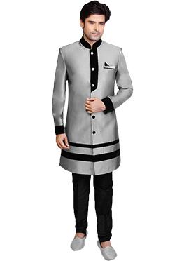 Silver Grey Sherwani