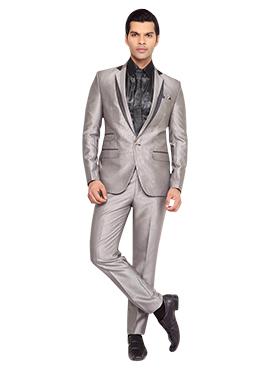 Silver Peak Lapel Style Suit