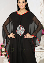 Simplistic Black Farasha Kaftan