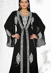 Splendid Black Georgette Fustan