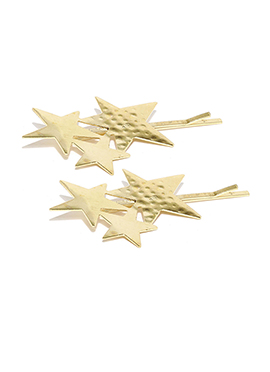 Star Shaped Gold Colored Toniq Hair Pins