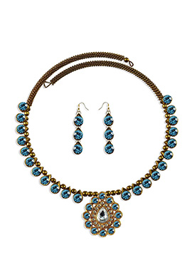 Stone Adorned Choker Necklace Set