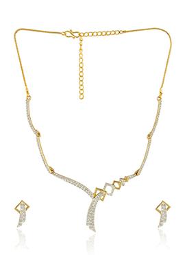 Stone Studded Elegant Necklace Set