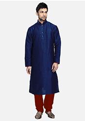 Striking Blue Jacquard Kurta Pyjama