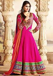Stunning Lara Dutta Pink Floor Length Anarkali