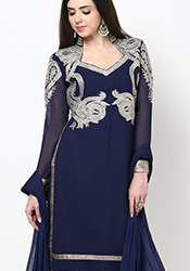 Timeless Georgette Plus Size Straight Suit