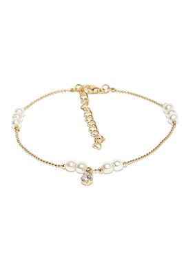 Toniq Gold Pearl N Stone Studded Bracelet