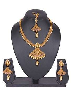 Traditional Gold Plated Tradisiya Necklace Set