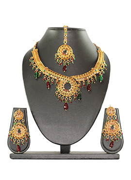 Traditsiya Beads N Stone Enhanced Necklace Set